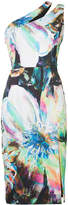 Black Halo one-shoulder print dress
