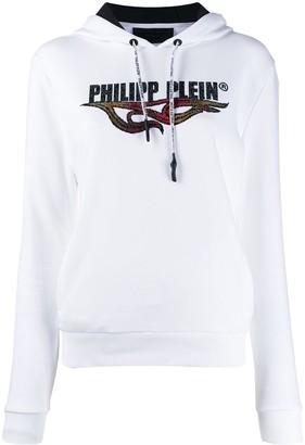 Philipp Plein Flame embellished hoodie