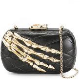 Corto Moltedo Susan C Star clutch bag - women - Nappa Leather/Brass/Silk Satin - One Size