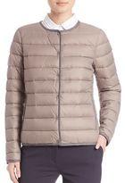 Peserico Contrast-Trim Puffer Jacket