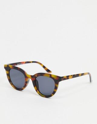 A. J. Morgan AJ Morgan round sunglasses in tortoise shell with black lens