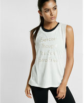 Express one eleven extra fries crew neck muscle tank