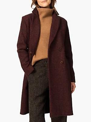 Brora Harris Tweed Coat, Rust/Port