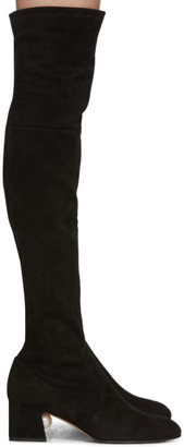 Nicholas Kirkwood Black Suede Miri Over-The-Knee Boots