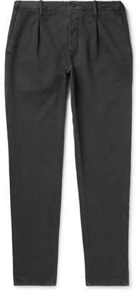 Incotex Slim-Fit Garment-Dyed Cotton-Blend Trousers