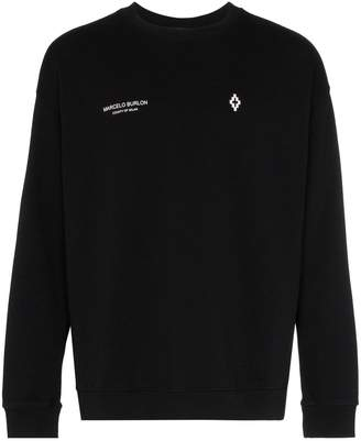 Marcelo Burlon County of Milan badge embroidered cotton jumper