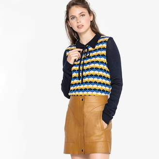 La Redoute Collections Jacquard Jumper with Peter Pan Collar