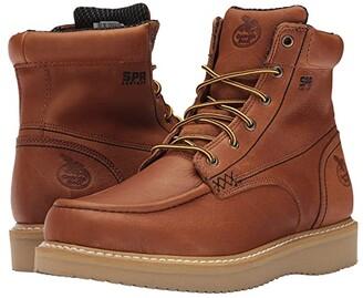 Georgia Boot 6 Moc Toe Wedge (Barracuda Gold) Men's Work Boots