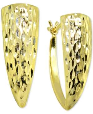 Giani Bernini Textured Graduated Hoop Earrings in 18k Gold-Plated Sterling Silver, Created For Macy's
