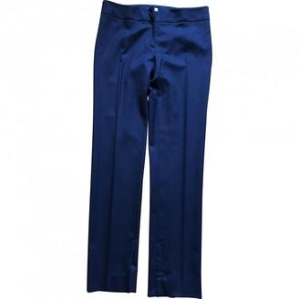 Philosophy di Alberta Ferretti Blue Wool Trousers for Women