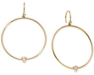 AVA NADRI 18k Gold-Plated Crystal Drop Hoop Earrings