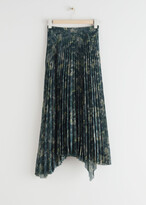 Thumbnail for your product : And other stories Pleated Asymmetric Midi Skirt