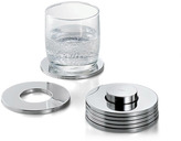 Philippi Rings Coasters Set of 7 - Silver