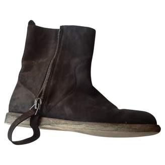Maison Margiela \N Black Suede Ankle boots