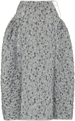 Cecilie Bahnsen Lily brocade pattern structured skirt