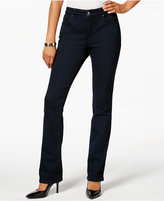 Charter Club Petite Indigo Blue Wash Straight-Leg Jeans, Only at Macy's