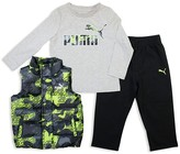 Puma Boys' Vest, Tee & Sweatpants Set - Sizes 2T-3T