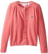 Lacoste Kids Cotton Wool Cardigan (Infant/Toddler/Little Kids/Big Kids)