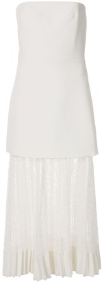 Dion Lee Vein Lace Pleated Dress