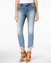 INC International Concepts Cropped Embroidered Jeans, Created for Macy's