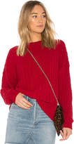 Lovers + Friends x REVOLVE Crescent Sweater in Red. - size L (also in M,S,XL,XS,XXS)