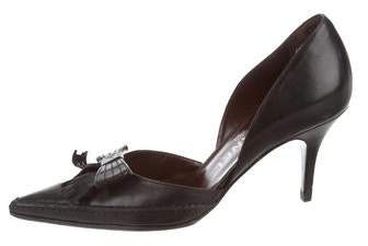Chanel D'Orsay Bow-Accent Pumps