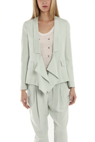 3.1 Phillip Lim Draped Overlap Blazer in Celadon