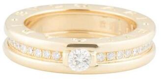 Bvlgari pre-owned 18kt yellow gold B.Zero1 diamond ring