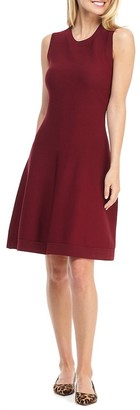 Gal Meets Glam Sleeveless Fit & Flare Knit Dress