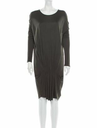 Stella McCartney Bateau Neckline Knee-Length Dress Grey