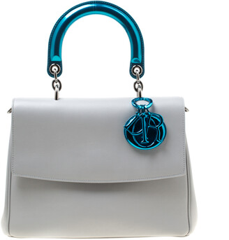 Christian Dior Grey Leather Small Be Shoulder Bag