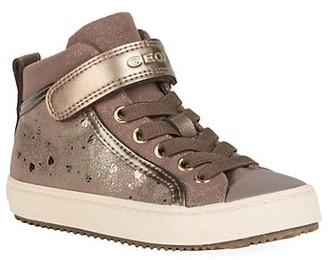 Geox Little Girl's & Girl's Kalispera Shimmer High-Top Sneakers