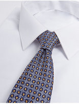 M&S Collection Pure Silk Geometric Print Tie