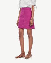 Ann Taylor Petite Textured Cotton Skirt