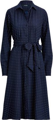 Ralph Lauren Print Long-Sleeve Shirtdress