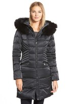 1 Madison Women's Down & Feather Fill Coat With Genuine Fox Fur