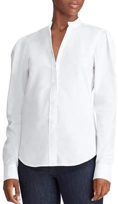 Ralph Lauren Cotton Puff-Shoulder Shirt