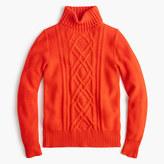 J.Crew Cambridge cable turtleneck sweater