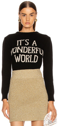 Alberta Ferretti It's A Wonderful World Sweater in Black | FWRD