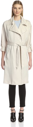 Vince Camuto Women's Fluid Belted Trench Coat