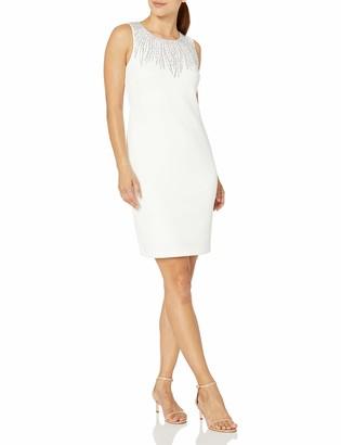 Calvin Klein Women's Petite Petite Sleeveless Dress with Embellishment