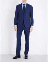 Corneliani Slim-fit Check-print Wool Suit