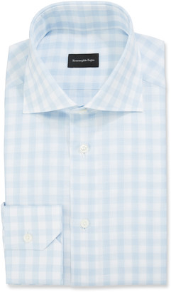 Ermenegildo Zegna Men's Large-Gingham Dress Shirt
