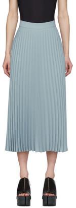 MM6 MAISON MARGIELA Blue Pleated Skirt