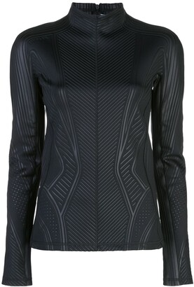 Thierry Mugler lycra mock-neck top