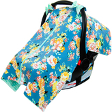 Gray & Mint Floral Minky Car Seat Canopy Cover
