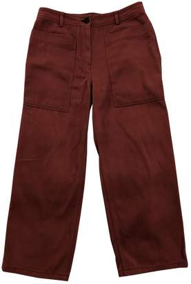 Arket Pink Cotton Trousers for Women
