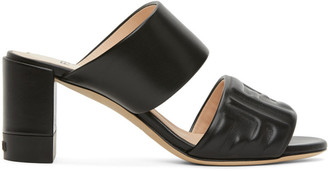 Fendi Black Forever Double Banded Sandals