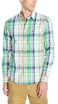 Lacoste Men's Long Sleeve Plaid Regular Fit Woven Shirt