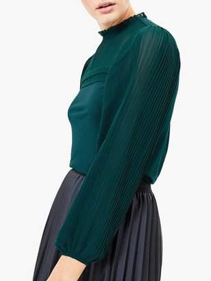 Oasis Pleated Sleeve Blouse